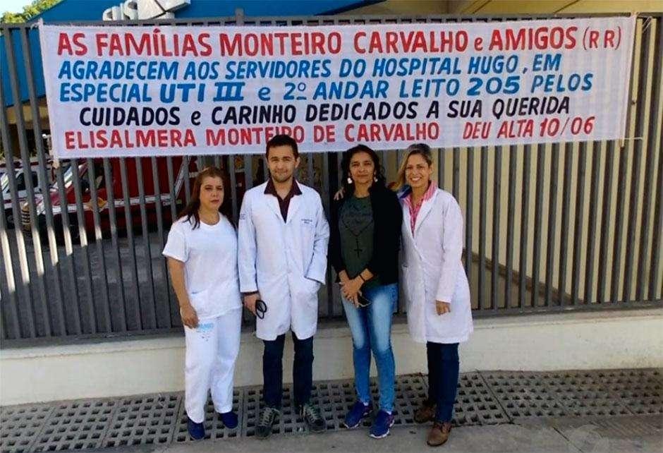 Pacientes do Hugo agradecem pelo excelente tratamento que receberam no hospital