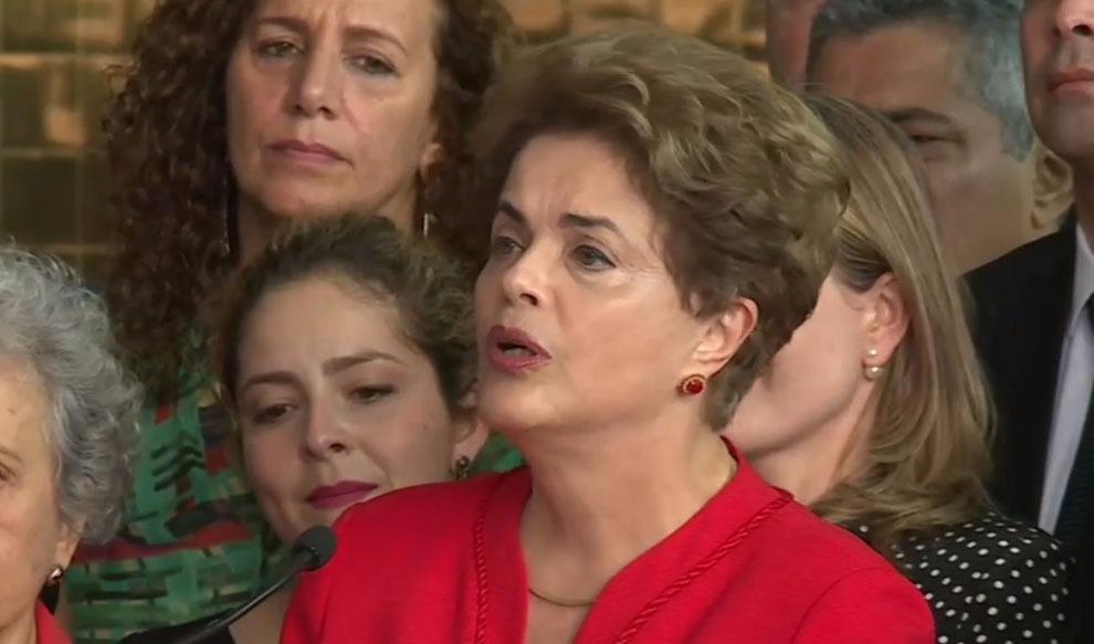 Em pronunciamento, Dilma diz que vai recorrer em todas as instâncias