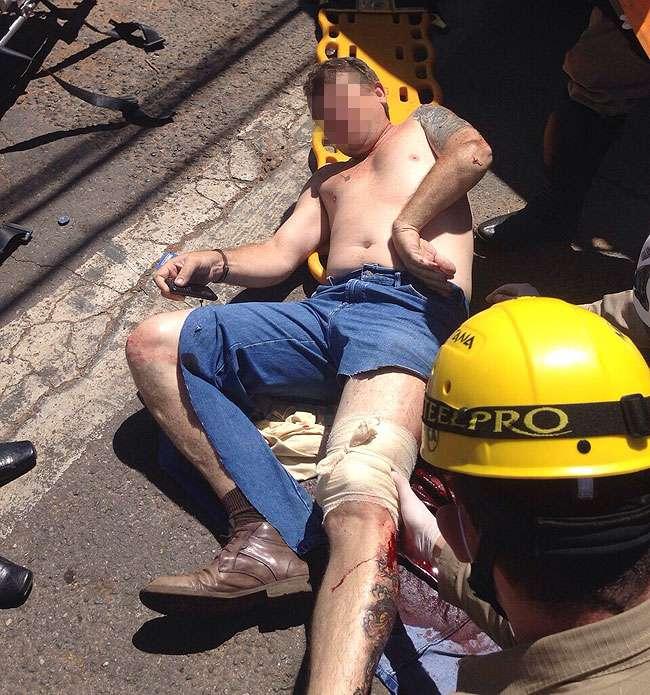 Traficante reage a abordagem e é baleado pela polícia