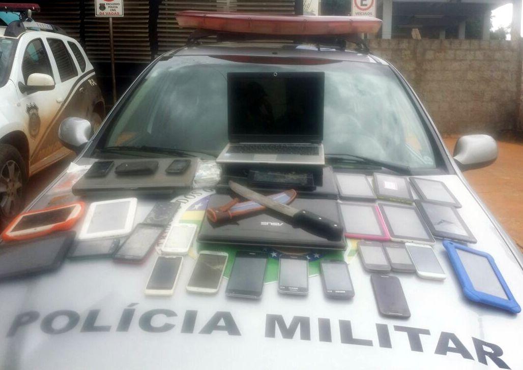 Polícia prende quatro suspeitos e recupera diversos aparelhos eletrônicos furtados em Águas Lindas