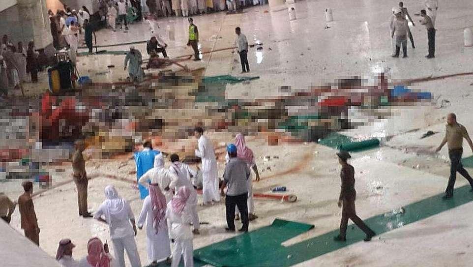 Queda de grua mata pelo menos 52 pessoas na Grande Mesquita de Meca