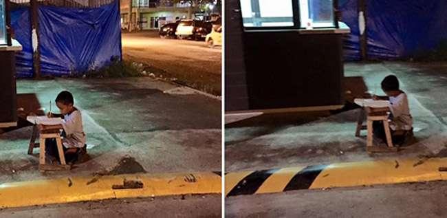 Como uma foto mudou a vida do menino filipino que estudava na rua