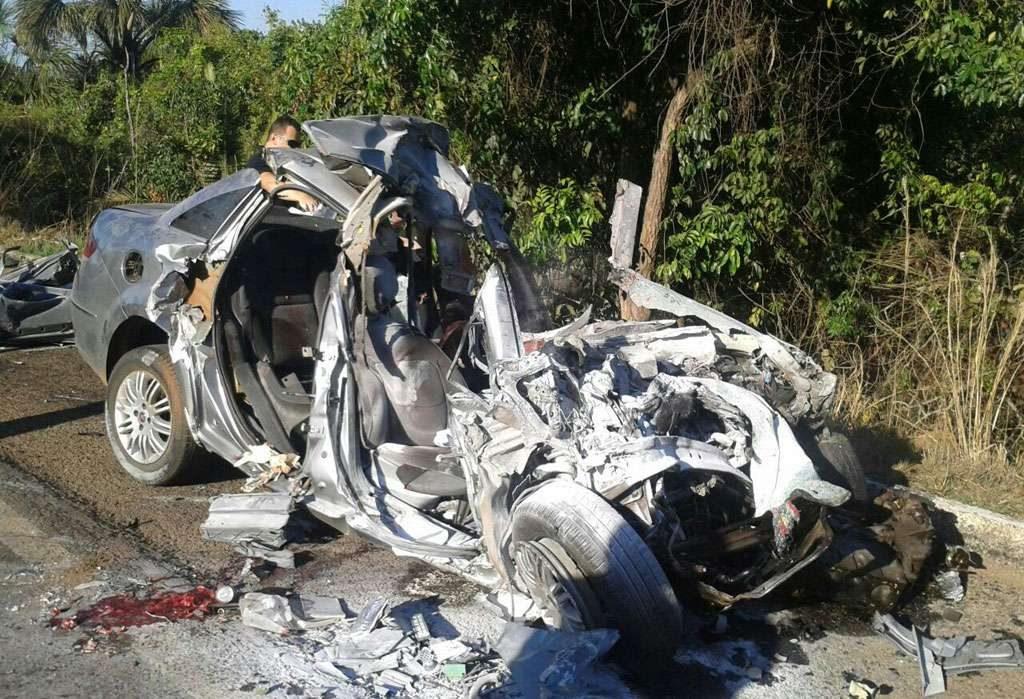 Acidente deixa três mortos e um ferido na BR-153, próximo a cidade de Uruaçu