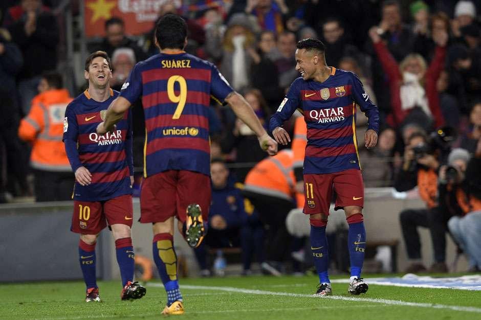 Com show do trio MSN, Barça goleia Celta e mantém vantagem na ponta