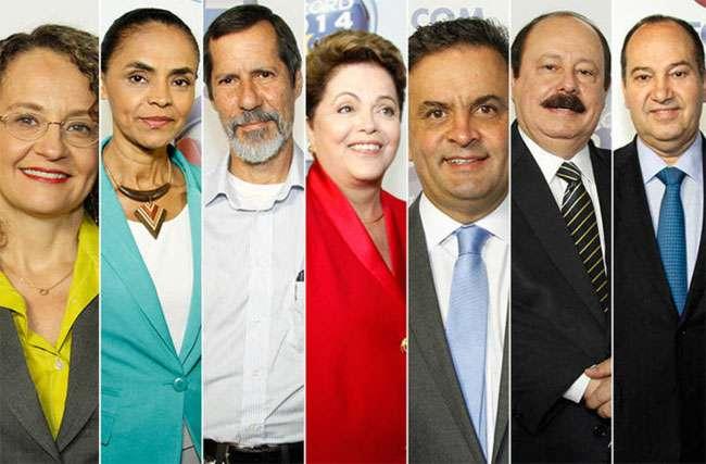 No 1º bloco, candidatos criticam política econômica