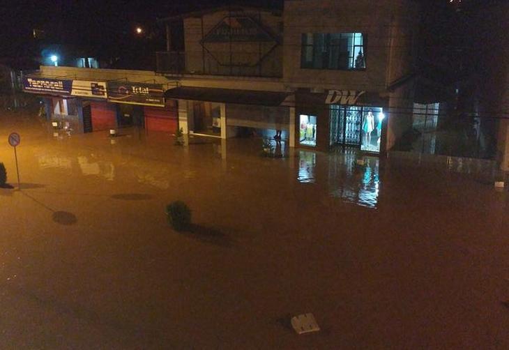 Fortes chuvas causam alagamentos em 80% do município de Rolante (RS)