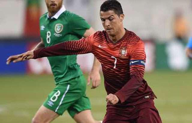 Com C. Ronaldo, Portugal atropela Irlanda em último teste