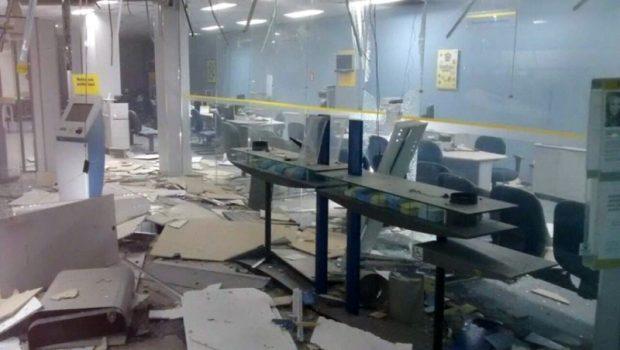 Bandidos explodem caixas eletrônicos do Banco do Brasil, em Quirinópolis