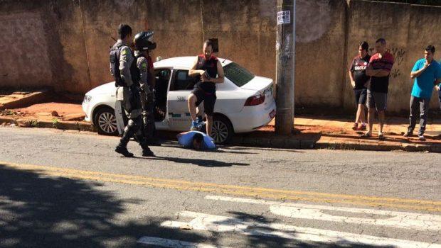 Delegado prende homem que tentou assaltar taxista com um garfo, em Goiânia