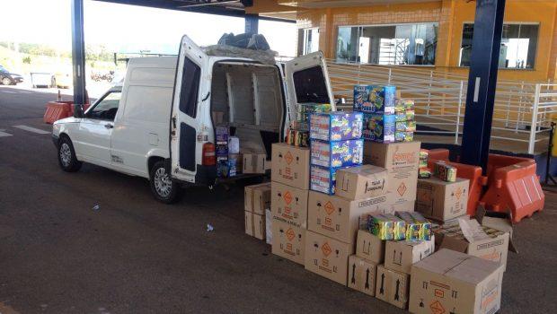 PRF apreende meia tonelada de produtos explosivos transportados irregularmente em furgão