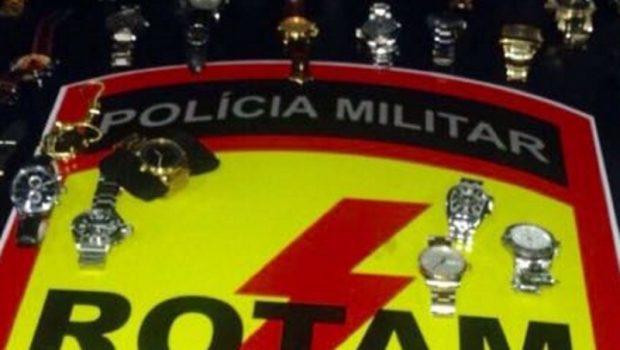 Suspeitos de roubar coleção de joias e relógios avaliada em R$ 400 mil são presos em Goiânia