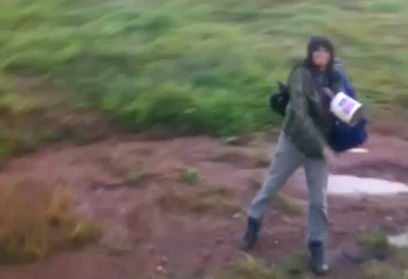 Vídeos mostram indígena trocando ameaças com passageiro e jogando objeto contra ônibus