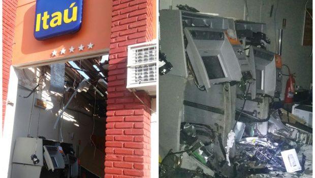 Criminosos explodem caixas eletrônicos em agência de Rio Quente
