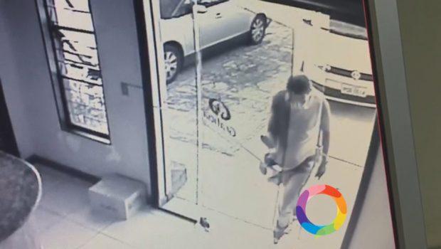 Câmeras de segurança mostram as últimas imagens do suspeito de matar Ana Clara, em Goiânia