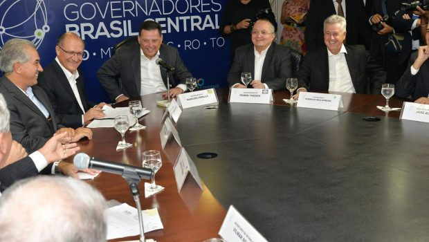"""""""São Paulo e o Brasil Central têm o mesmo DNA"""", diz Alckmin durante encontro com Marconi"""