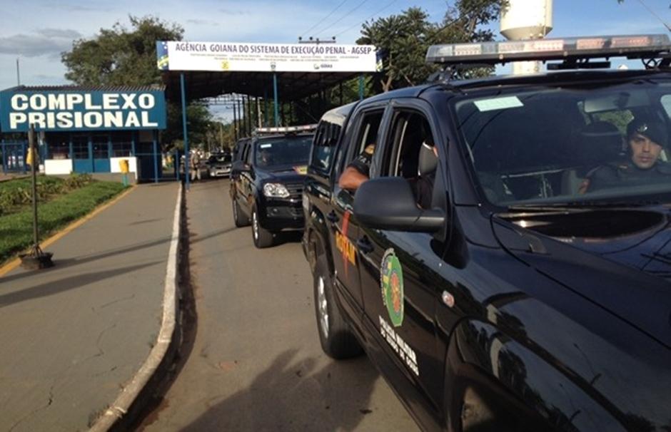 DGAP transfere presos após princípio de rebelião no Semiaberto de Aparecida de Goiânia