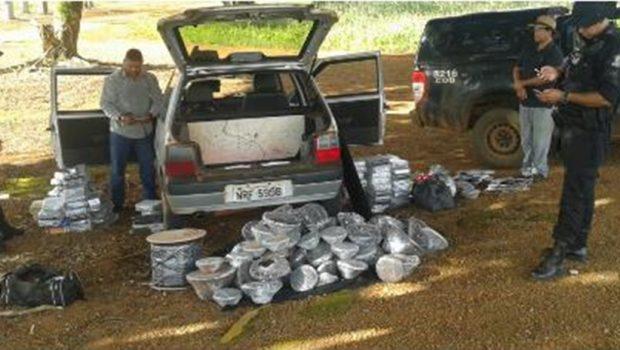 Dois são presos na GO 341 com produtos do Paraguai