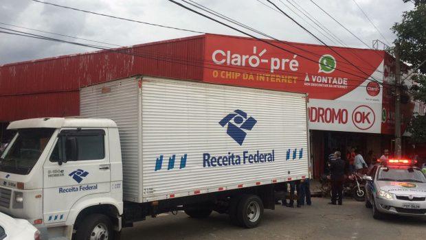 Receita Federal e PC realizam operação contra fraudes em camelódromo do Setor Campinas