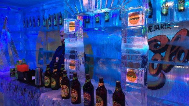Armazém Bretas inaugura Ice Bar com esculturas de monumentos goianos