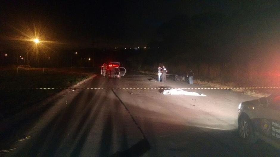 Duas pessoas morrem atropeladas na madrugada deste domingo em Goiânia