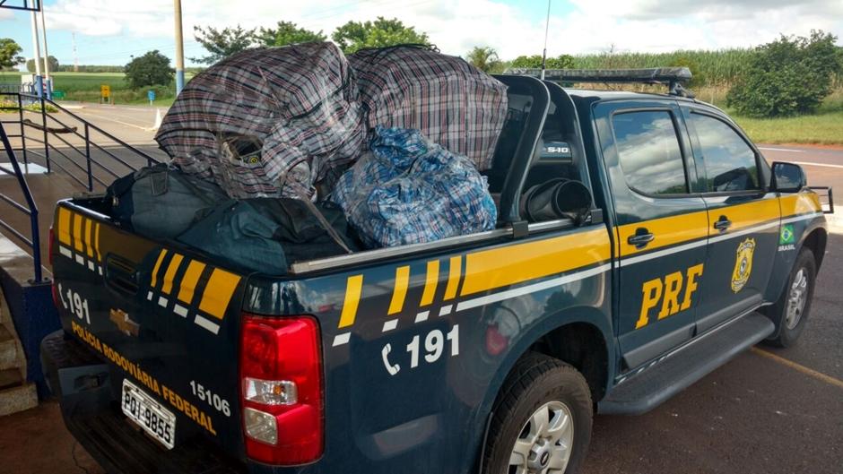 PRF faz três apreensões de produtos do Paraguai em uma semana