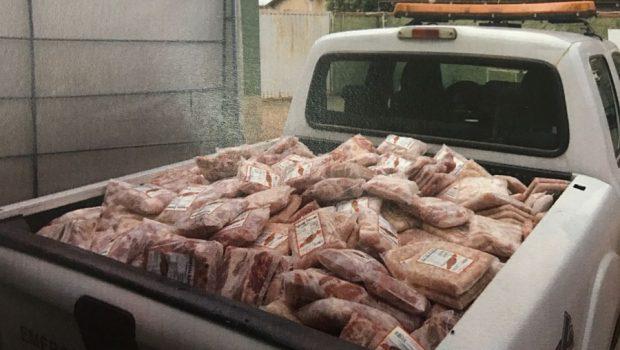Operação apreende mais de 2,5 toneladas de produtos de origem animal em Piracanjuba