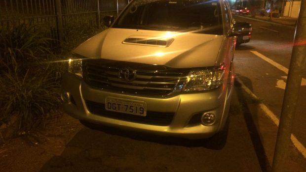 PM recupera Hilux roubada em Goiânia e prende casal