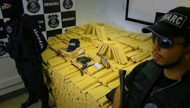 Polícia Civil apreendeu mais de 10 mil quilos de drogas em Goiás em 2016