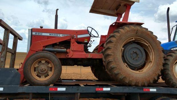 PRF recupera máquinas agrícolas furtadas de uma propriedade rural em Ipameri