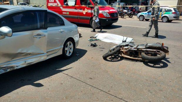 Motociclista morre em acidente na Avenida Perimetral Norte