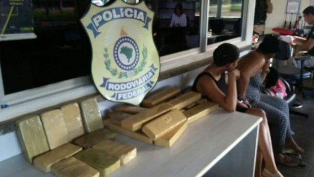 Gestante e lactante são presas em Guapó com tabletes de maconha e crack