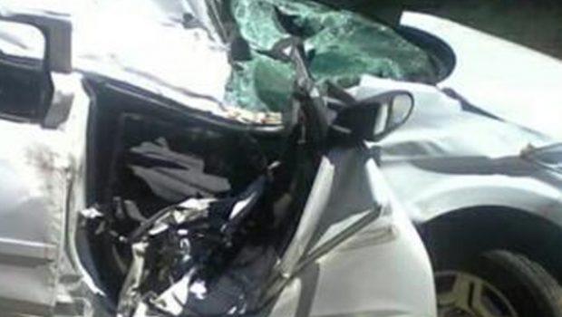 Mulher morre após carro bater em ponte e capotar na GO-237, em Niquelândia