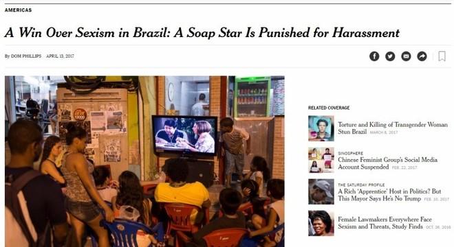 NYT diz que caso José Mayer é vitória contra o sexismo