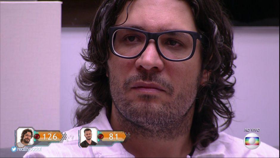 Ilmar é o décimo eliminado do BBB 17 com 55,92% dos votos