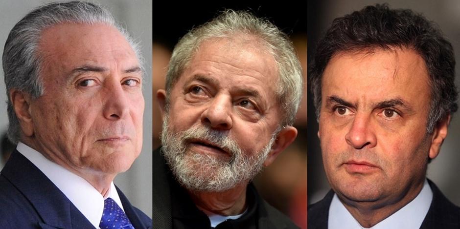 Datafolha: Temer, Lula e Aécio são os mais rejeitados para eleição de 2018
