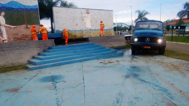 Painéis da Via Sacra na Rodovia dos Romeiros recebem manutenção