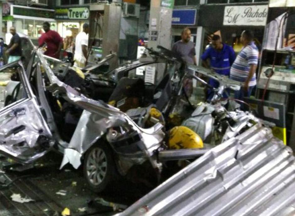 Explosão de carro no Rio ocorreu quando veículo era abastecido com gás