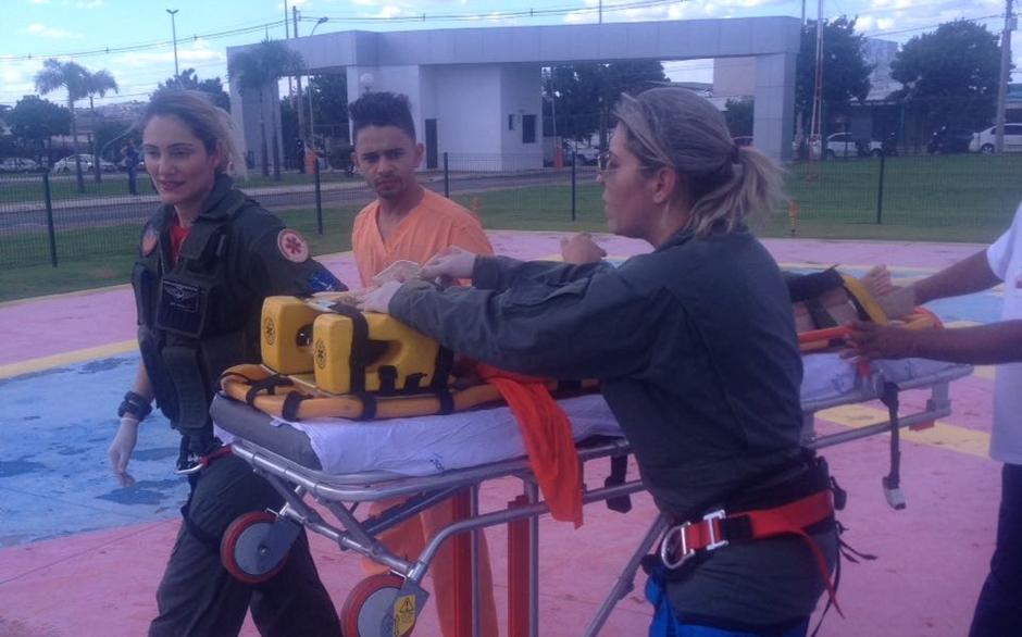 Criança sofre acidente em parque de Senador Canedo