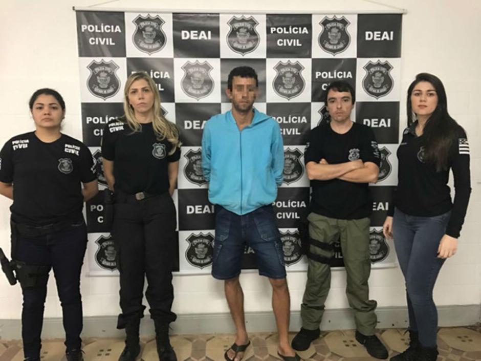 Polícia prende homem suspeito de maltratar e ameaçar a mãe, o tio e o avô