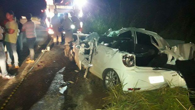 Acidente na GO-417 deixa uma pessoa morta e duas gravemente feridas
