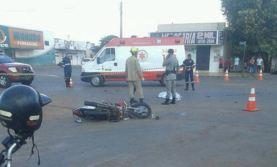 Mulher morre em acidente entre carro e moto em Goianésia