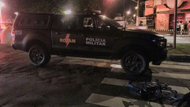 Morre ciclista atropelada por viatura da Rotam