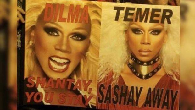 """RuPaul manda """"sashay away"""" para Michel Temer"""