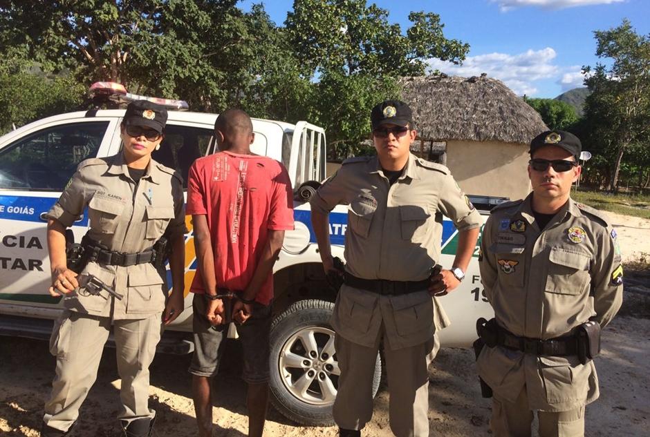Homem é preso após furtar casas da comunidade Kalunga, em Cavalcante