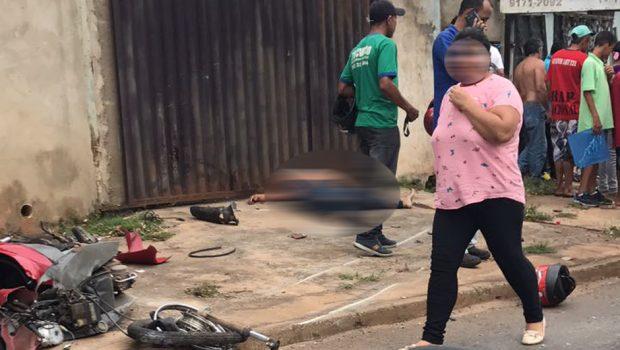 Perseguição a assaltantes termina em acidente e morte de mulher, no Jardim Balneário Meia Ponte