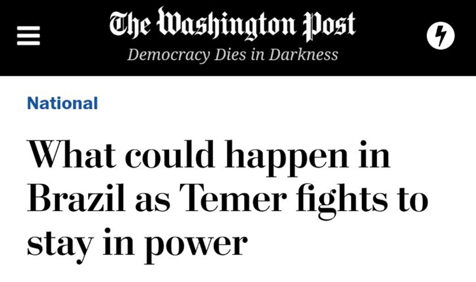 Jornais internacionais divulgam áudio de Temer e repercutem crise em Brasília