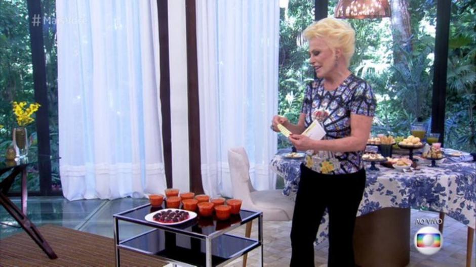 Após episódio de ontem, Ana Maria Braga recebe doces de abóbora e brigadeiros de Taís Araújo