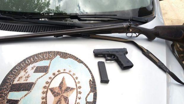 Homem é preso em Araguapaz transportando armamentos e munições