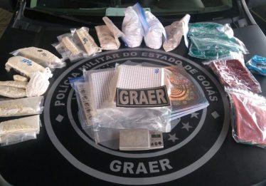 PM apreende R$ 2 milhões em drogas sintéticas em Goiânia