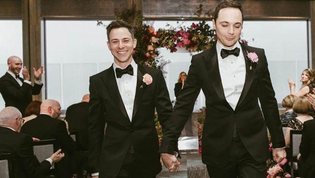 Jim Parsons e Todd Spiewak se casaram neste fim de semana